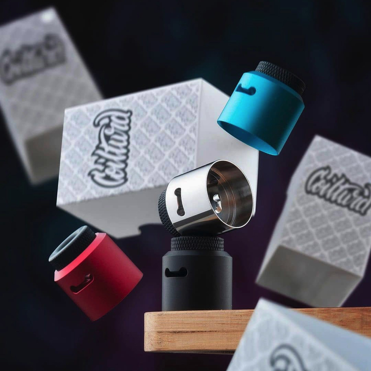 CLOUD CAP SET FOR AN RDA FOR VAPING  BY COILTURD